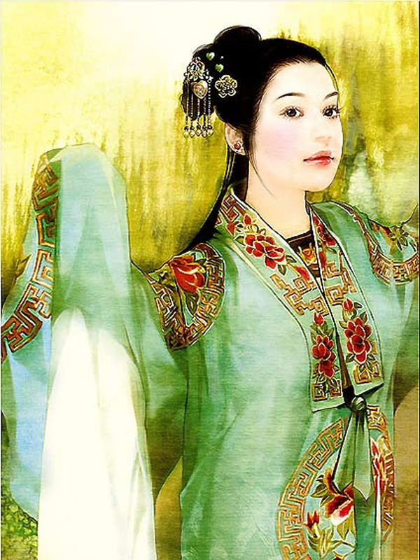 Asian, Japanese, Thi, Chinese, Indonesian Beautiful Girl Paintings  Imagez Only-1233