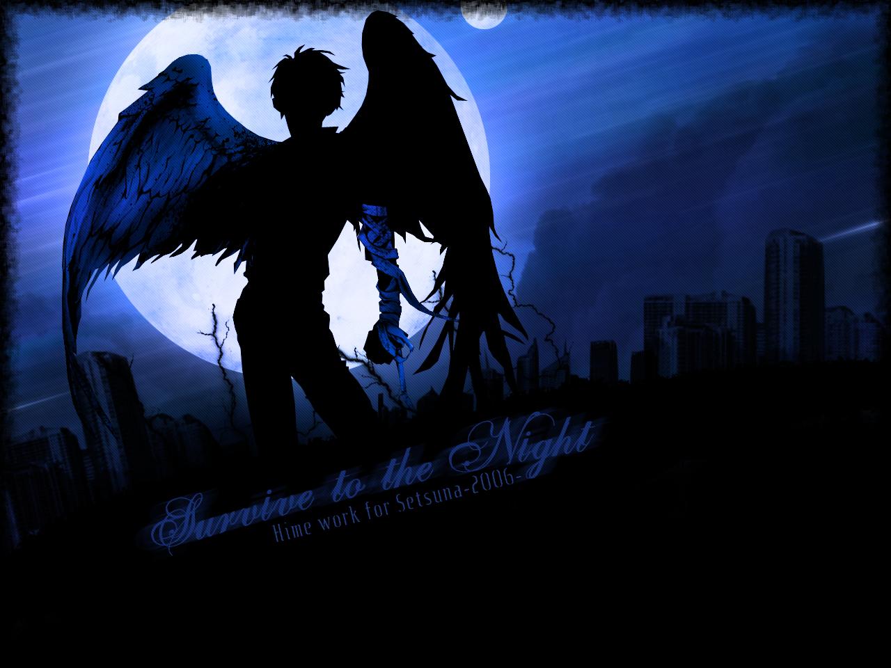 Group Of Dark Anime Angel Guy Wallpaper