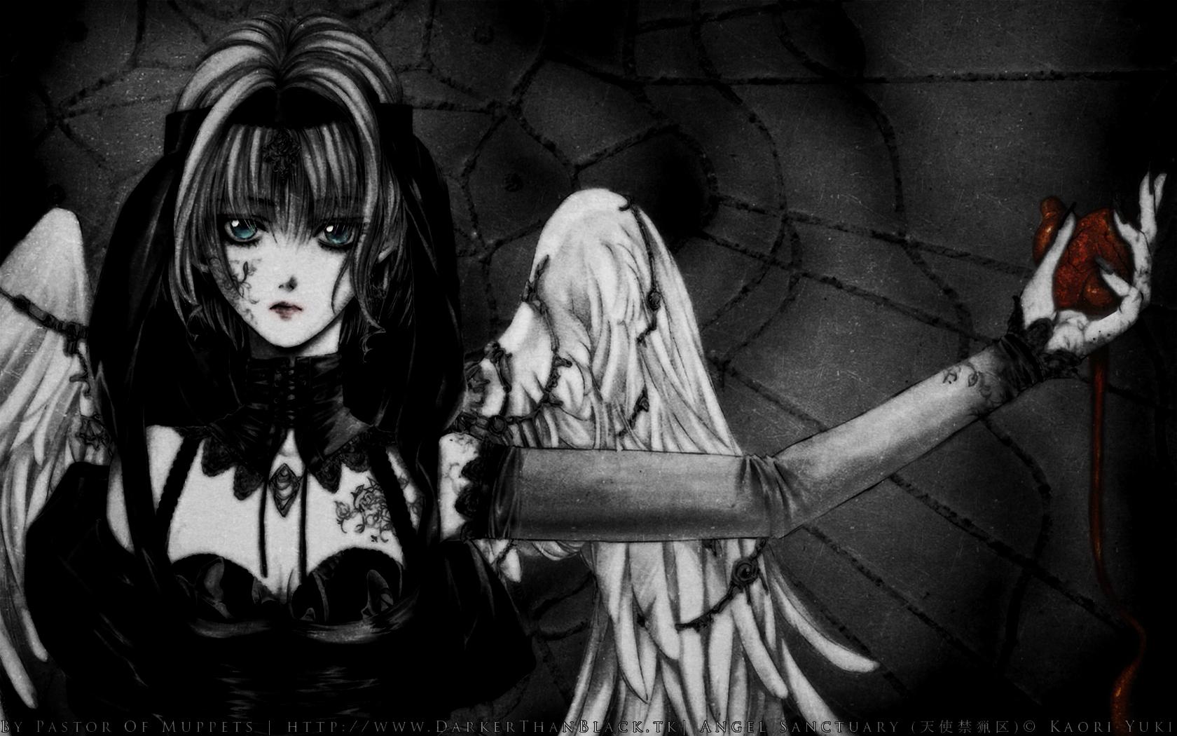 Angel sanctuary manga fantasy dark angels wallpaper free - Wallpaper dark anime ...