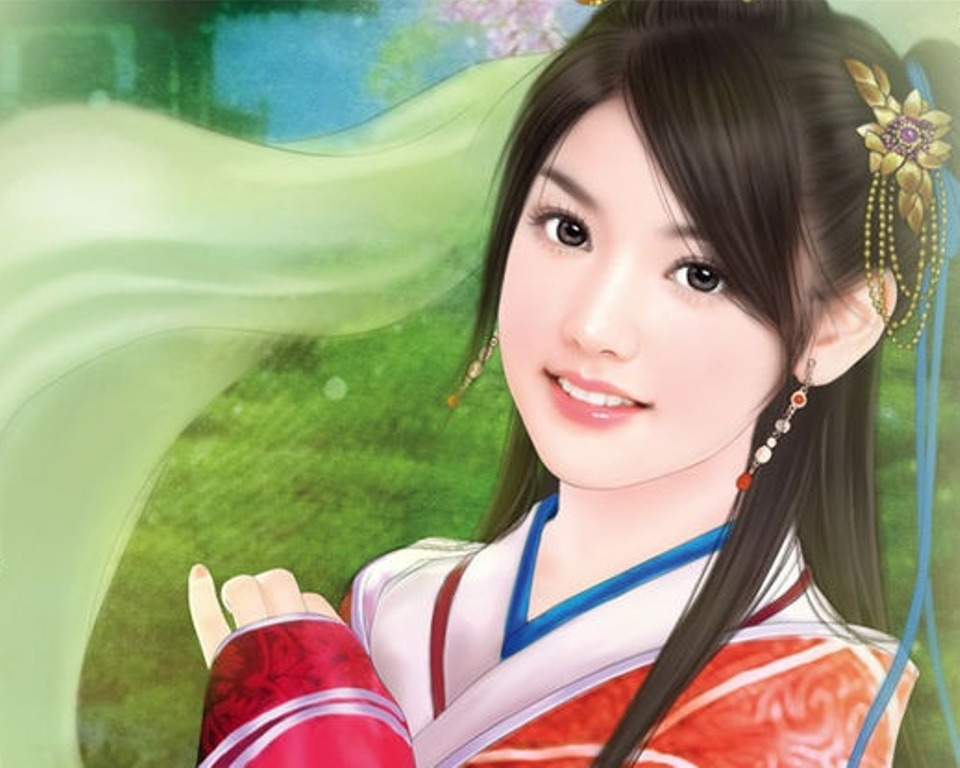 Chinese girl paintings 032 imagez only voltagebd Image collections