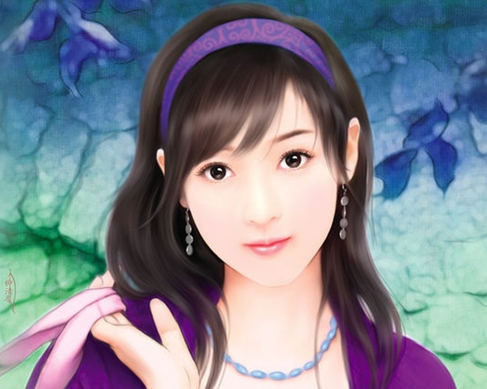 Chinese girl paintings 040 imagez only voltagebd Image collections