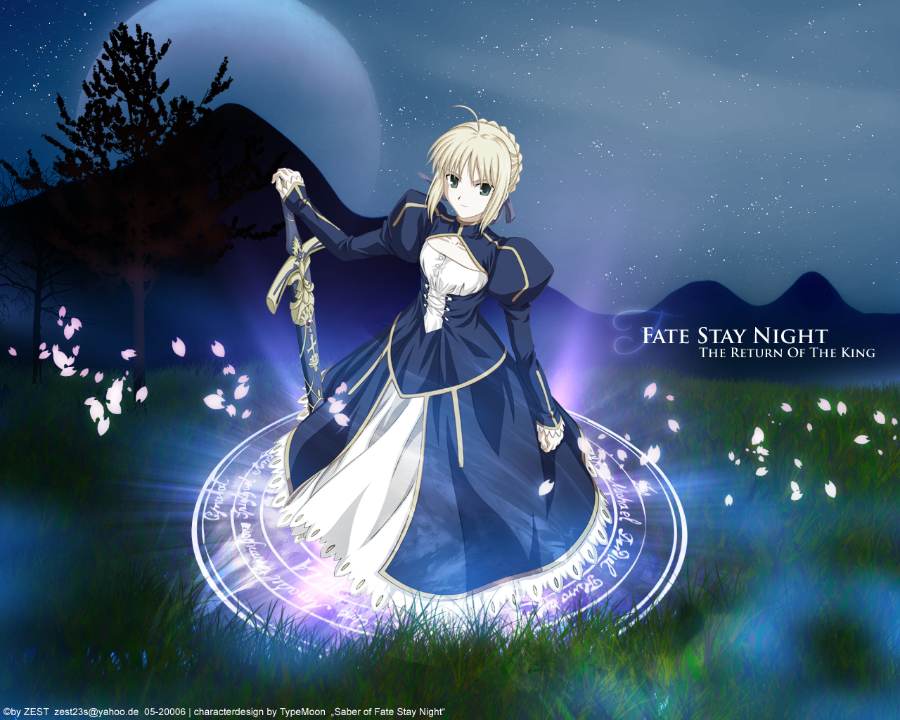 Fate Stay Night : Sexy Warrior Anime Manga Wallpaper 01