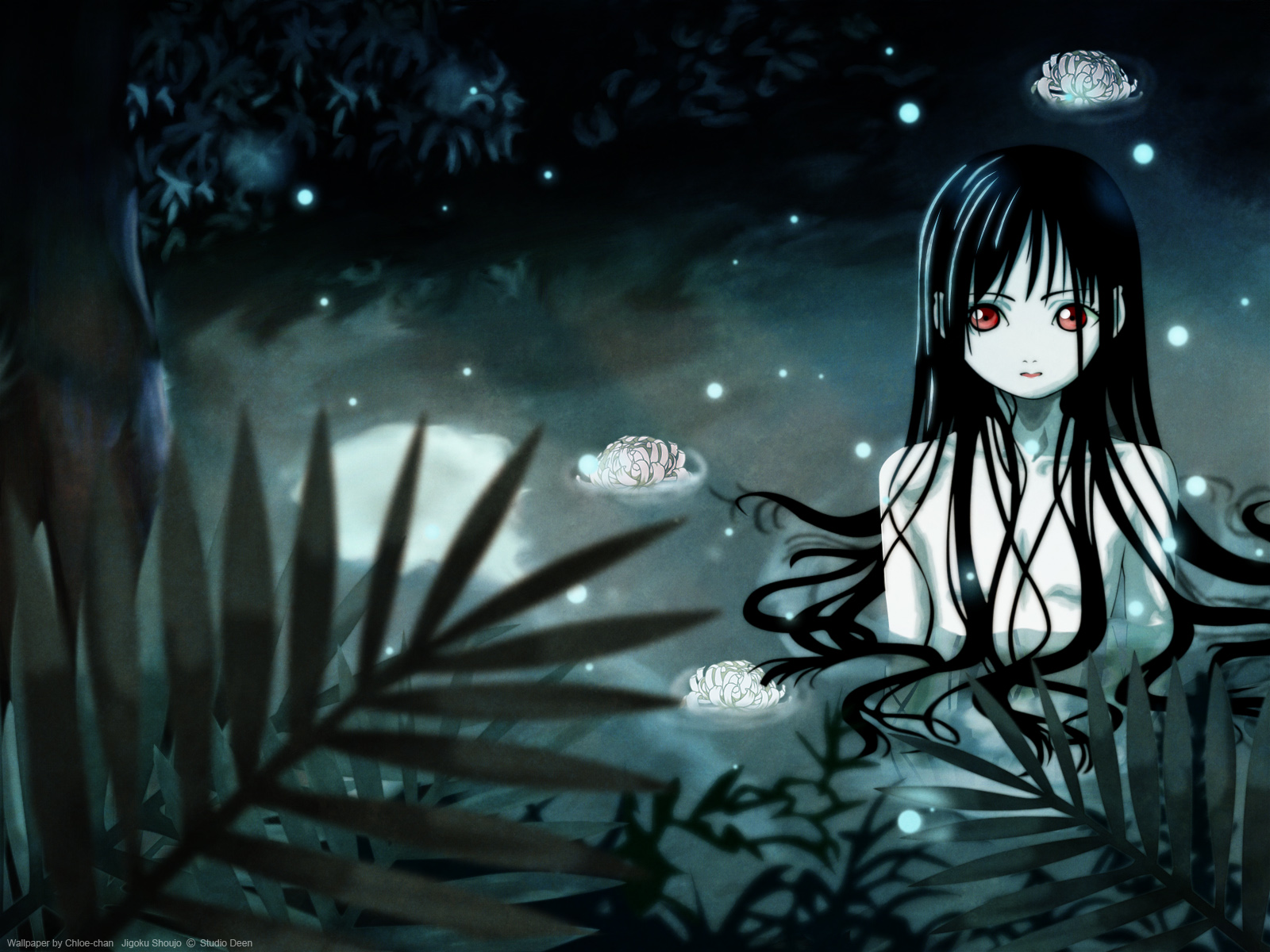 Jigoku Shoujo Girl From Hell Dark Anime Hd Wallpaper