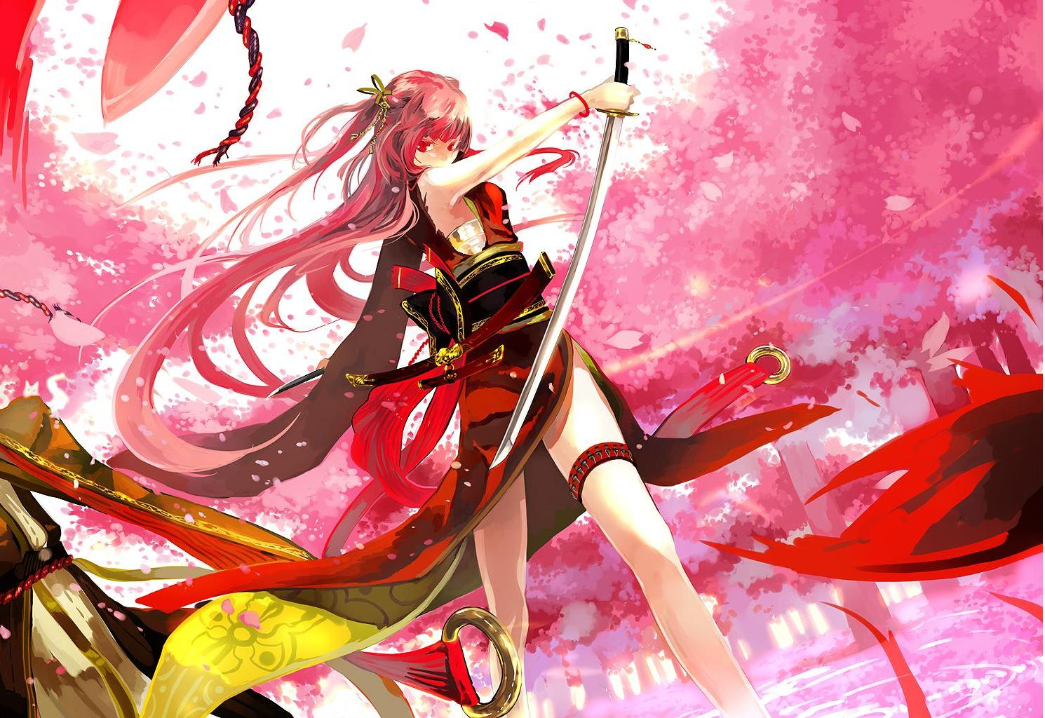 sexy samurai anime girls wallpapers imagez only