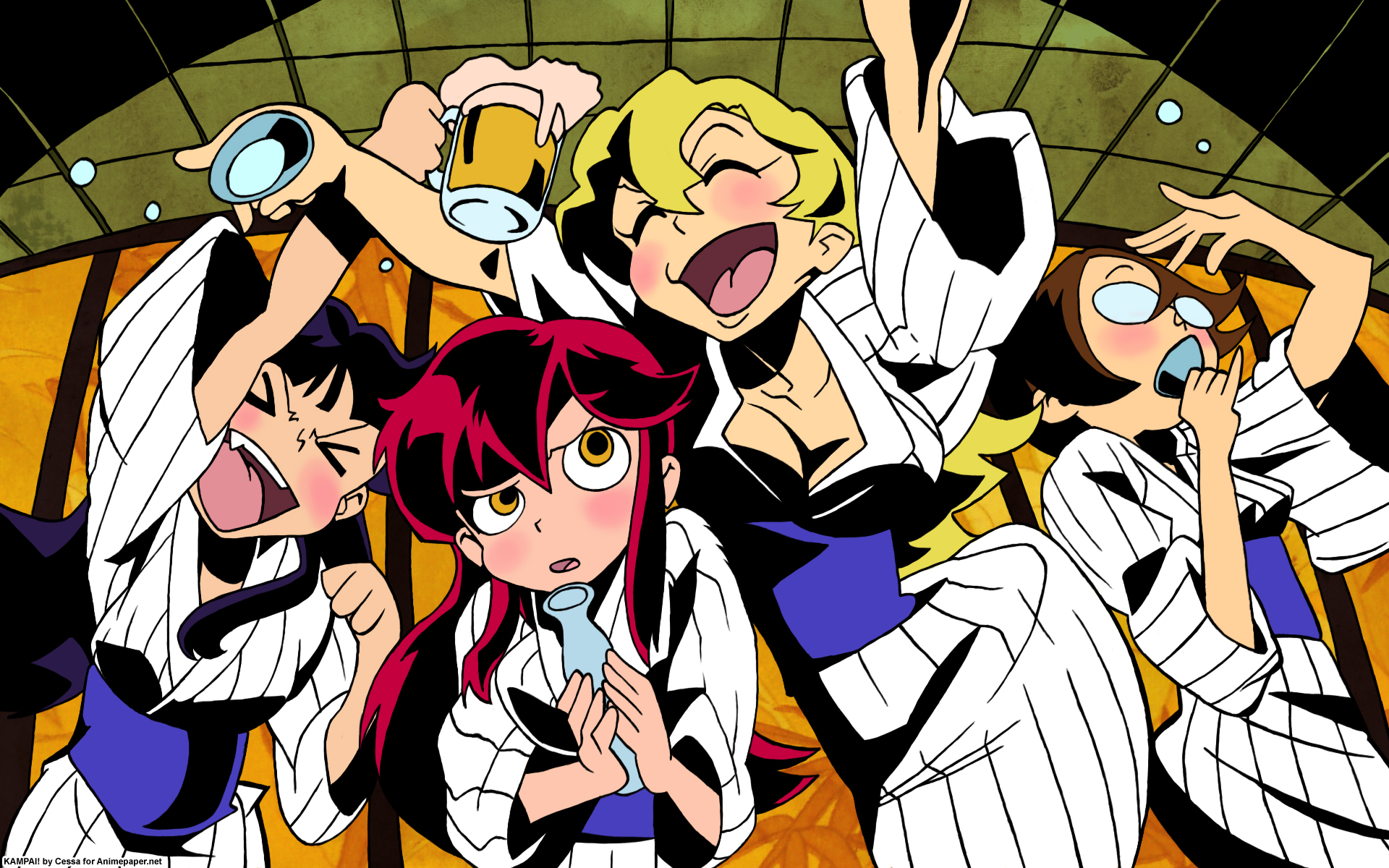 Gurren Lagann High Resolution Girls Amp Gun Anime