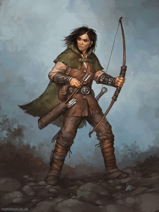 Female Ranger Fantasy Art