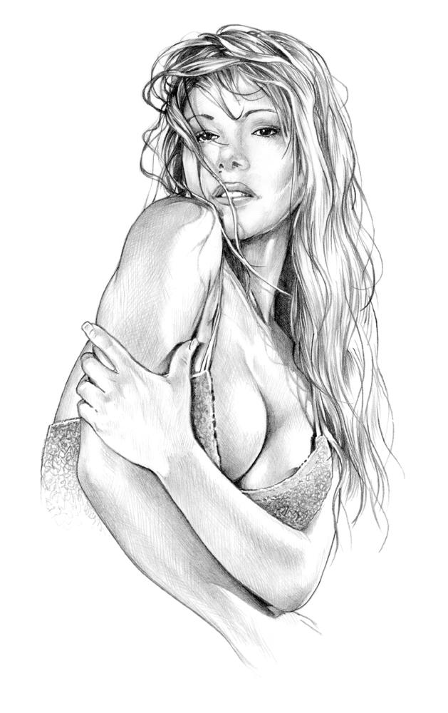 Naked Girl Sketch Royalty Free Vector Image