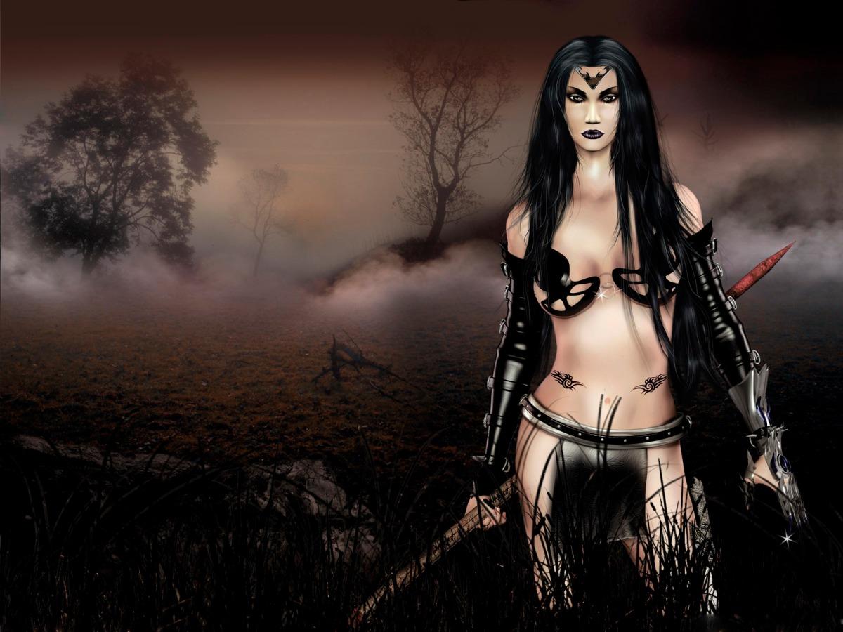 Nackte Gothic Frauen