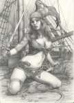 Pencil Pinup Art Sexy Drawings  489x680